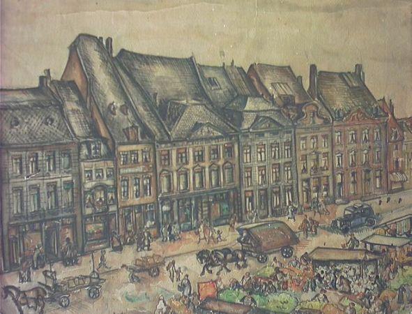 Markt gevelwand 1938