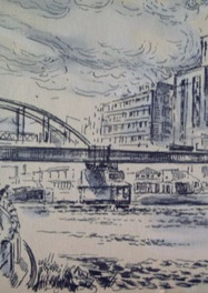 Set 08. Papierfabriek & Spoorbrug 1965