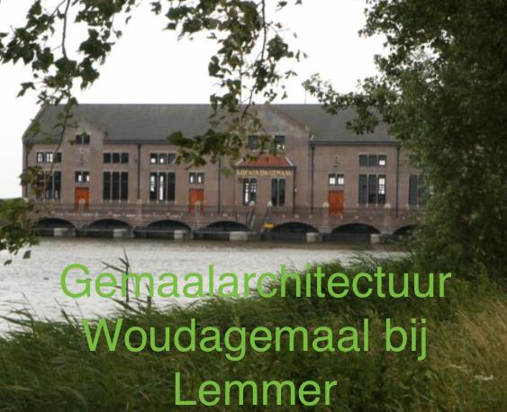 Gemaal architectuur Woudagemaal bij Lemmer