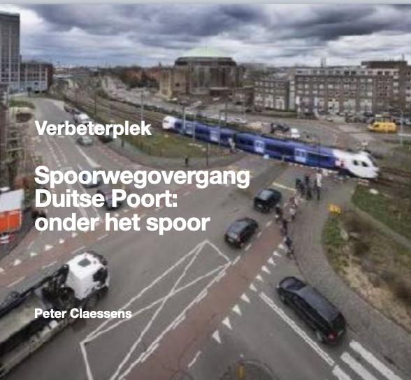 Spoorweg overgang Duitse Poort
