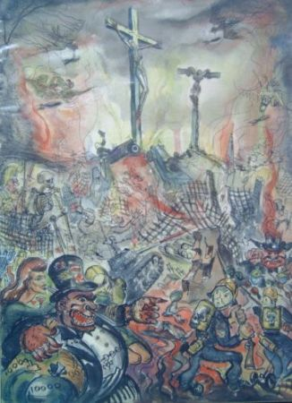 Destruction and the cross 1945