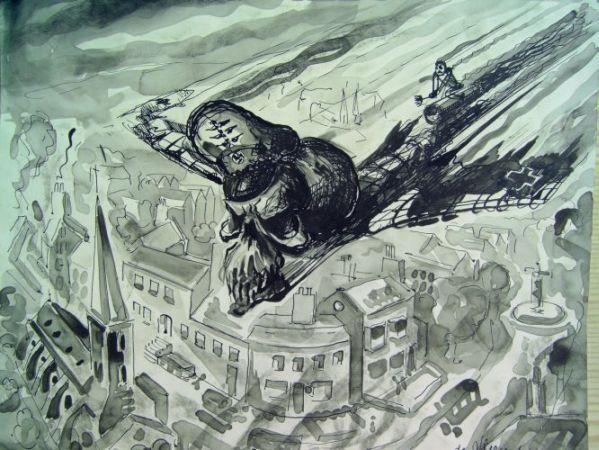 Vliegende bommen boven london 1944