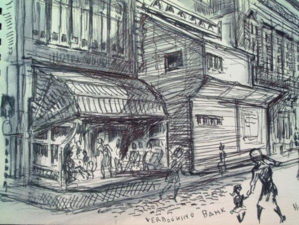 Vrijthof verbouwing Bank 1965