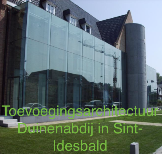 Toevoegings architectuur Duinenabdij in Sint Idesbald