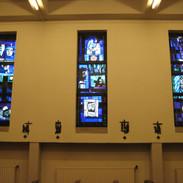 Motto - Gebrandschilderde ramen