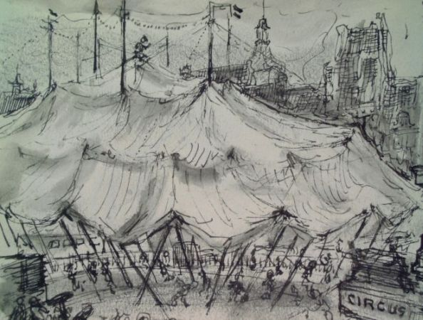 Markt circus Bever 1958