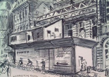 Set 10. Vrijthof -Verbouwing Bank 1965 2.