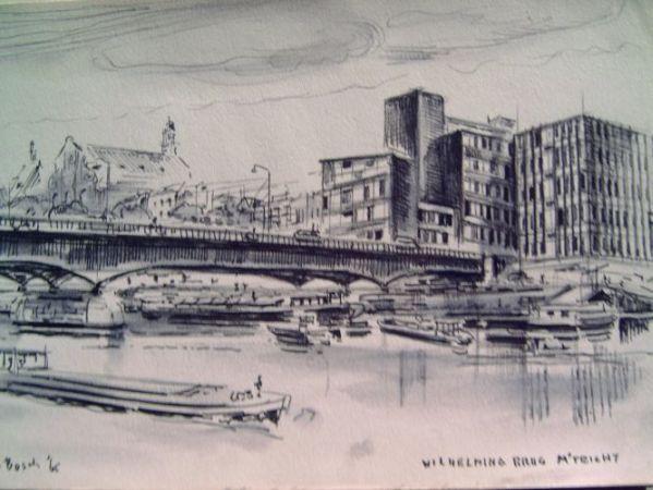 Wilhelminabrug vanaf de Griend 1965