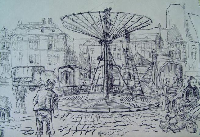Kermis op de Markt 1946
