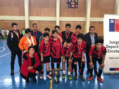 Segundo lugar regional en competencia futsal masculino
