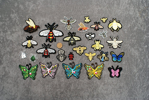 Bees and Bugs Iron On Patches