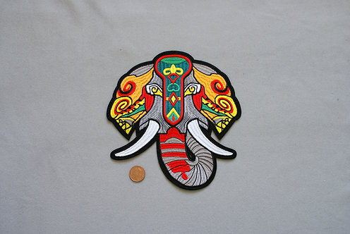 Large Elephant Iron on Patch