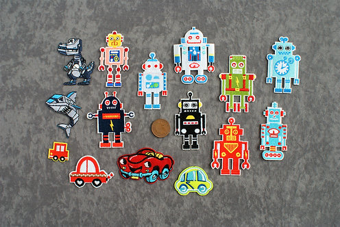 Robot Iron On Patches