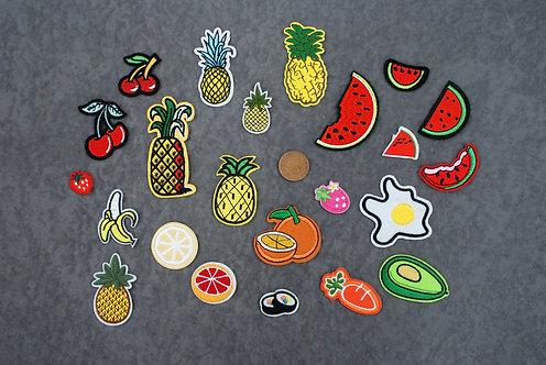 Fruit/Veg Iron On Patches