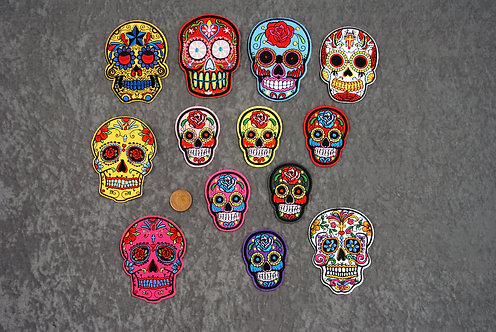 SugarSkull Iron On Patches