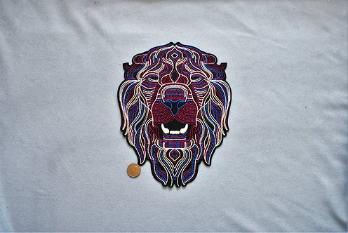 Large Lion Iron on Patch