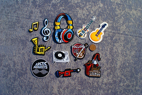 Music Iron On Patches