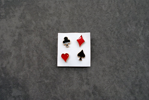 Set of 4 Card Suit Pins