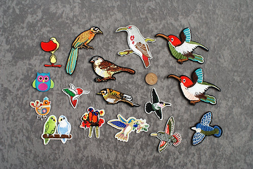 Birds Iron On Patches