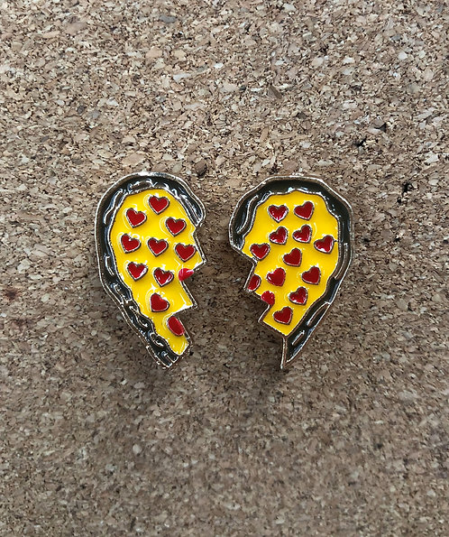 Set of 2 Love Pizza Pins