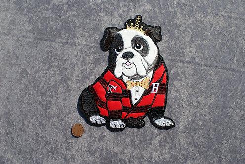 Large Bulldog Iron On Patch