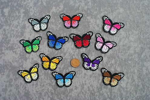 Butterflys Medium Iron On Patches