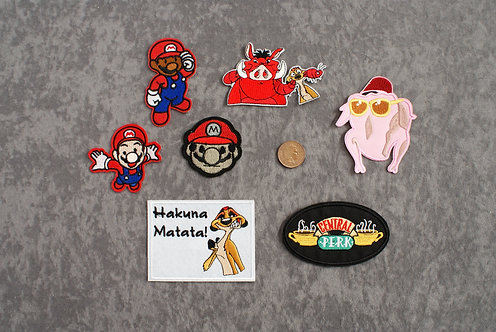 Mario+ Iron On Patches