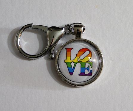 Love Pride Keychain