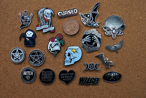 Goth Pins 2