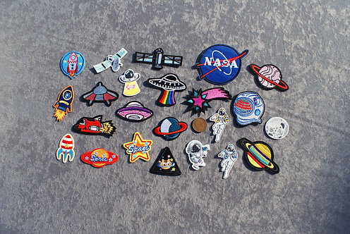 Space Iron On Patches