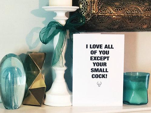 Small Cock - Shady Birthday Card
