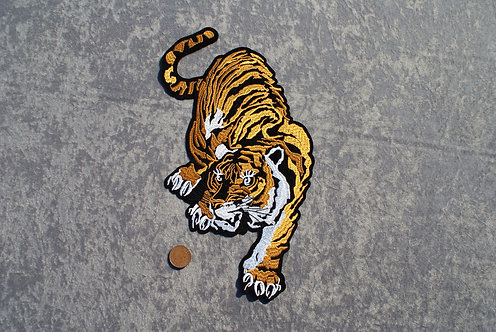 Large Tiger Iron On Patch2