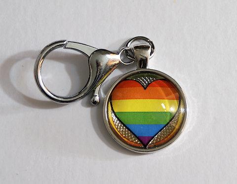 Pride Heart Keychain