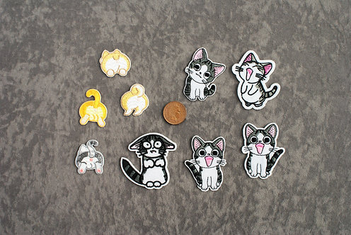 Cats 2 Iron On Patches
