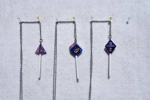 D&D Dice Suckers (Purple/Blue Luster)