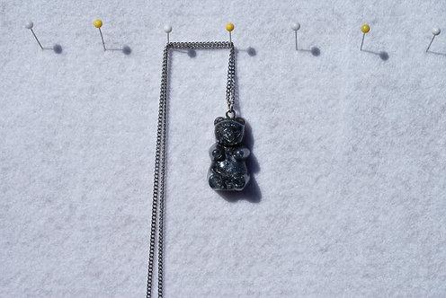 Large Black Shimmer Gummy Bear