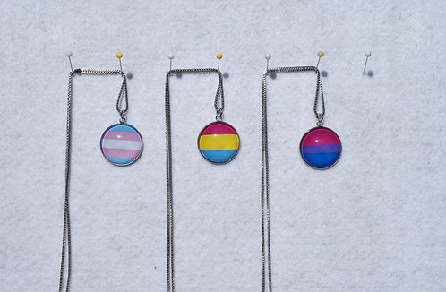 Pride Flag Cabochons (glass & stainless steel)