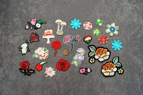 Flowers Iron On Patches