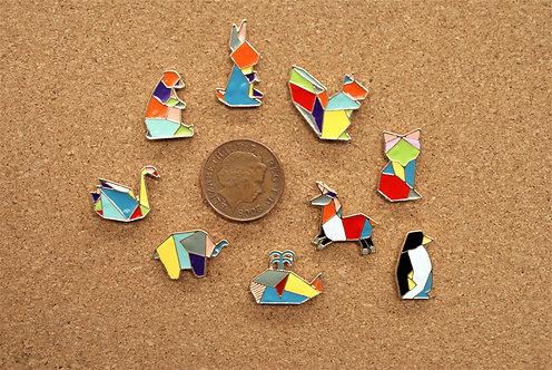Geometric Animal Pins