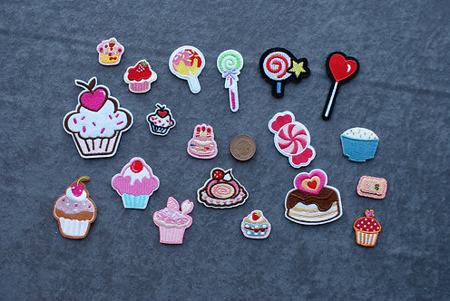 Cake Iron On Patches