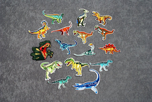 Dino Iron On Patches