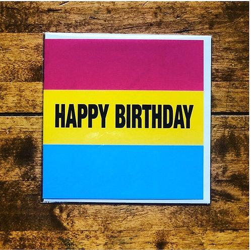 Happy Birthday Pan Pride Card