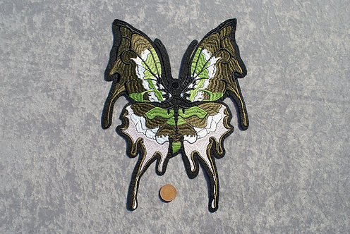 Large Green Butterfly Iron On Patch