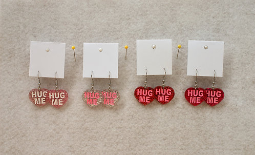 Hug Me Glitter Heart Earrings