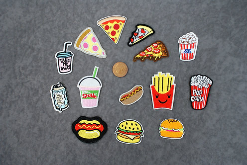 Fast Food Iron On Patches