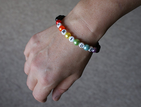Black Pride Letter Bracelet