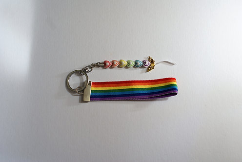 Rainbow Ribbon Keychain 5