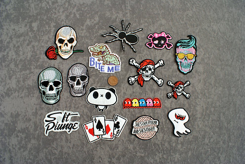 Awesome 2 Iron On Patches