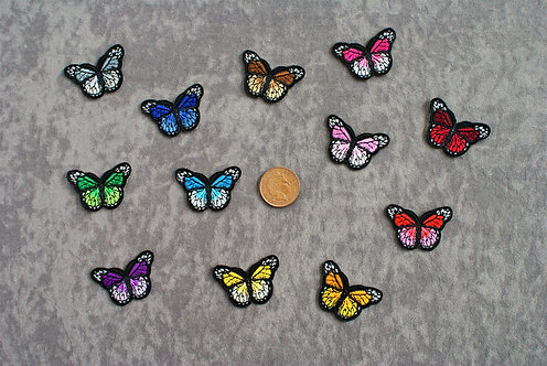 Butterflys Small Iron On Patches