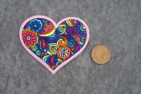Multicolor Heart Patch